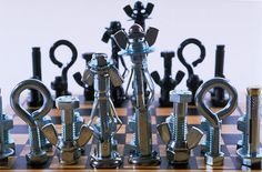 Make a tool chess set -- Revised version of the one in the Cub Scout Leader's How-To Guide. I like this one better than the original version!