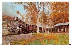 Undated Unused Postcard East Broad Top Railroad Rockhill Furnace PA Engine 14