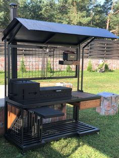 Barbecue Design, Outdoor Lounge, Outdoor Decor, Home Room Design, Steel Furniture, Kitchen Sets, House Rooms, Grilling, Diy And Crafts