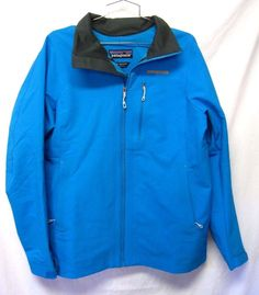 PATAGONIA Alpine Guide JACKET midweight Soft Shell XL women EXC BRIGHT Blue NWOT #Patagonia #Softshell