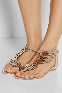 Sophia Webster Seraphina mirrored-leather sandals NET-A-PORTER.COM