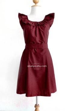 maroon dress maybe mom can make