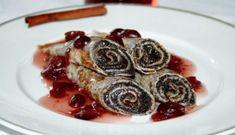 Makové palačinky s brusinkovou omáčkou | NejRecept.cz Waffles, Pancakes, Pancake Party, Crepes, Sweet Recipes, Sushi, Nutella, French Toast, Deserts