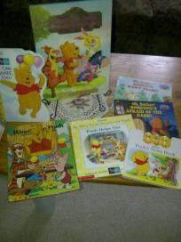 "lot of ""7"" winnie the pooh books"