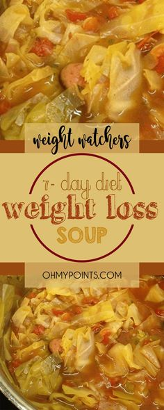 7-Day Diet Weight Loss Soup (Wonder Soup) #weightwatchers #weight_watchers #weightloss #soup