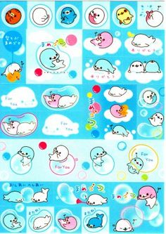 San-X Japan Mamegoma Sticker Sheet from Memo Pad (A) Kawaii