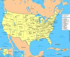 Carte Etats-Unis / Plan Etats-Unis