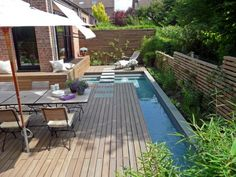 The idea of its design is to make an ordinary swimming pool turns into an adequate, individual element of modern landscape gardening.    Read more: http://www.digsdigs.com/mini-spa-design-for-small-terraced-houses/#ixzz1t2NjjMPD