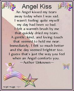 I found this on pinterest today and it fit so appropriately with all that is going on right now! I love it and thought it might help with the day!!! Decir No, Dad Quotes, Teacher Quotes, Poem Quotes, Friend Quotes, Kiss Poem, Heavenly Angels, Angels In Heaven, Grief