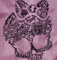 Monster High embroidered logo monster high, embroid logo