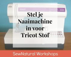 Stel je naaimachine in – Sew Natural Workshops Sewing Hacks, Sewing Tutorials, Sewing Patterns, Fabric Crafts, Sewing Crafts, Free Motion Quilting, Sewing Techniques, Sewing Clothes, Stitches