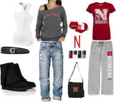 """""""Go Big Red"""" by shandi-guthrie on Polyvore"""