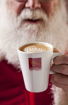 Santa's Favourite Drink! Insomnia Coffee ;) Coffee Company, Insomnia, Brewing, Festive, Product Launch, Mugs, Drinks, Tableware, Christmas