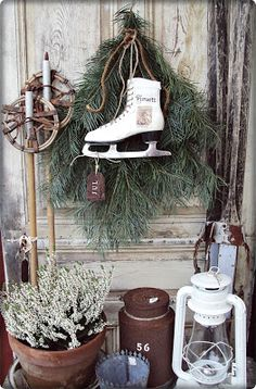 Lovely winterscape--not just for Christmas. I think I will be changing my winter decor!