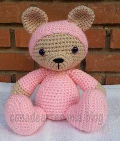 Crochet Bear, Crochet For Kids, Crochet Animals, Yarn Projects, Crochet Projects, Projects To Try, Drops Design, Knitted Dolls, Crochet Dolls