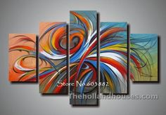 handmade discount 5 piece canvas art wall art canvas modern abstract painting home decoration Abstract Art For Sale, Abstract Line Art, Oil Painting Abstract, Hand Painting Art, Large Painting, Art Paintings, Buy Paintings Online, Online Painting, 5 Piece Canvas Art