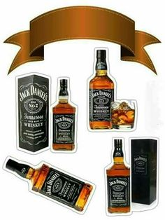 How to print the top of paper cake? Print on paper weighing to as the Cake Top becomes firmer. Bolo Jack Daniels, Festa Jack Daniels, Jack Daniels Birthday, Birthday Cake Toppers, Cupcake Toppers, Bolo Barbie, Cupcake Cake Designs, Happy Birthday Printable, Paper Cake