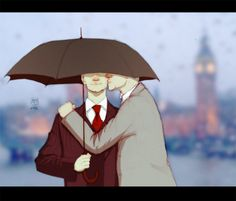 Rainy day by ~MadMoro on deviantART; recently I've been finding a lot more Mystrade and frankly, I think it's growing on me.