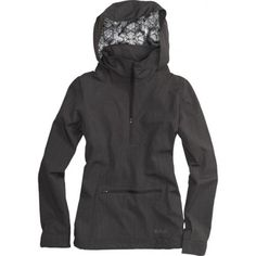 Burton Lotus Pullover Womens Snowboard Jacket - True Black | 2013 this is exactly what I'm looking for!!! -keera