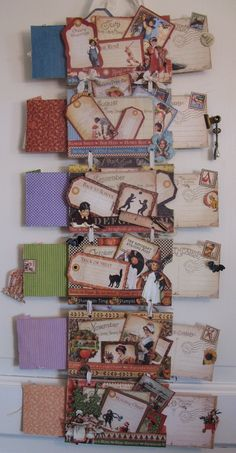 annes papercreations: Graphic 45 place in time Hanging calendar - mini album