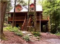 Lake Lure cabin rental - Welcome to pet friendly Dreamcatcher! Tucked in quiet greenery with stream.