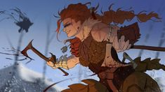 """""""Colored Vigrid, my Skellige didn't expect the colors to turn out this way but I liked it, maybe alternate version later? Female Character Concept, Fantasy Character Design, Character Design Inspiration, Character Art, Medieval Art, Medieval Fantasy, Fantasy Warrior, Fantasy Art, Woman Warrior"""