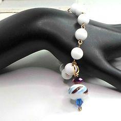Bracelet-lampwork-dangle-by-Bob-milk-glass-beads-handmade-size-6-1-4-by-Pat2