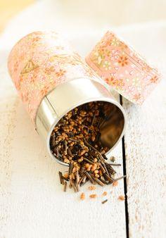 Tea. Oh, how I love thee. I need tea canisters like that. Really pretty.