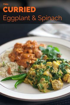Curried Eggplant and Spinach