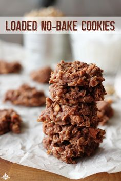 Loaded No-Bake Cookies - filled with pecans and coconut!