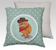 Chick cushion cover made to order  chick pillow by MimoCadeaux, $49.00