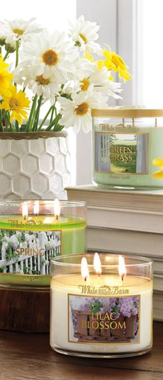 Fresh spring fragrances are in bloom at BBW! #BBWSpringHome- BBW candles are the best-so fragrant and they come in so many great scents!
