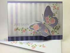 Jenny's stampin' flavours: Floral Wings take two