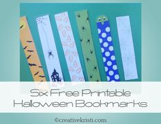 Bookmarks for the Halloween Witch to leave with her books for the kids