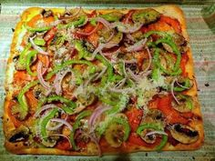 The Briny Lemon: Vegetarian Flatbread Pizza with Baby Bello Mushrooms