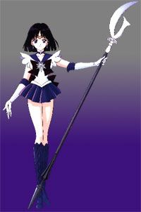 """The item most associated with Sailor Saturn is her Silence Glaive, which, apart from its capacity as a bladed weapon, figures in many of her named attacks. It is referred to once as the """"scythe of the Goddess of Death, and the act of lowering its point to the ground is all that is required for her to """"bring ruin to the world."""" No incantation is spoken, and this action is separated from """"Death Reborn Revolution"""" by the dialogue given in between the two maneuvers."""
