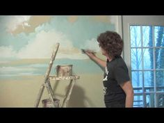Decorative Painting Techniques : How to Paint Clouds on Nursery Walls