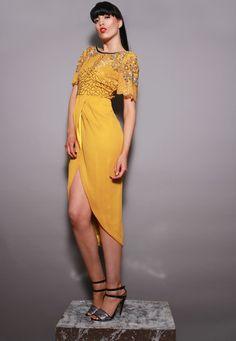 Virgos lounge yellow nicola dress
