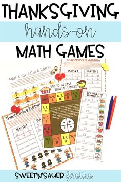 I love incorporating Thanksgiving into my elementary math activities! Here are some fun, interactive Thanksgiving math games that practice a variety of math skills such as addition, subtraction, fact families, and MORE! These engaging math games include ready-to-use, low-prep activities that are perfect for small groups, math centers, station work, and more!