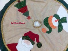 Saia em patchwork para árvore de Natal