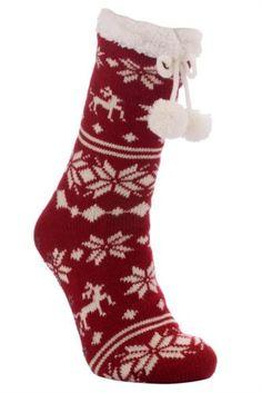 Çorap - Geyik Desenli Kışlık Çorap  yeniyıl hediyesi bundan istiyorum :)