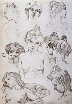 Sketches by Alphonse Mucha