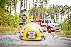 They have some awesome shots!!! Leslie & Trey | Midway Engagement Photographer {Dorchester Shooting Preserve} Firefighter/ Fireman Engagement Pictures!