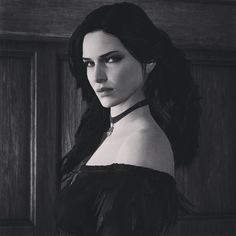 """#thewitcher3 #yennefer #yen #yenneferofvengerberg #blackandwhite #witcher3 #wildhunt"""
