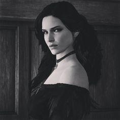 """""""#thewitcher3 #yennefer #yen #yenneferofvengerberg #blackandwhite #witcher3 #wildhunt"""""""