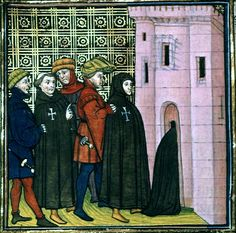 Arrest of the Knights Templars en 1307, from the Chroniques de Saint Denis, British Library, London. .... http://www.templar-quest.com ... Note the inclusion of female Templars.