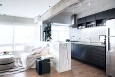 A Small-Spaced Scandinavian Style Apartment in Brazil | Rue