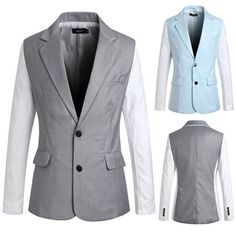Two Buttons Color Contrast Blazer Jacket Blazers For Men, Blazer Jacket, Contrast, Buttons, Jackets, Collection, Color, Fashion, Down Jackets