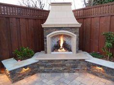 another backyard fireplace that i need #PinMyDreamBackyard