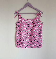 Made in the UK. Pink Tops, Bright Pink, Polka Dot Top, Cow, Vibrant, Women's Clothing, Trending Outfits, Animal, Clothes For Women